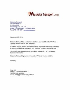 Muskoka Transport endorsement, truck driver school