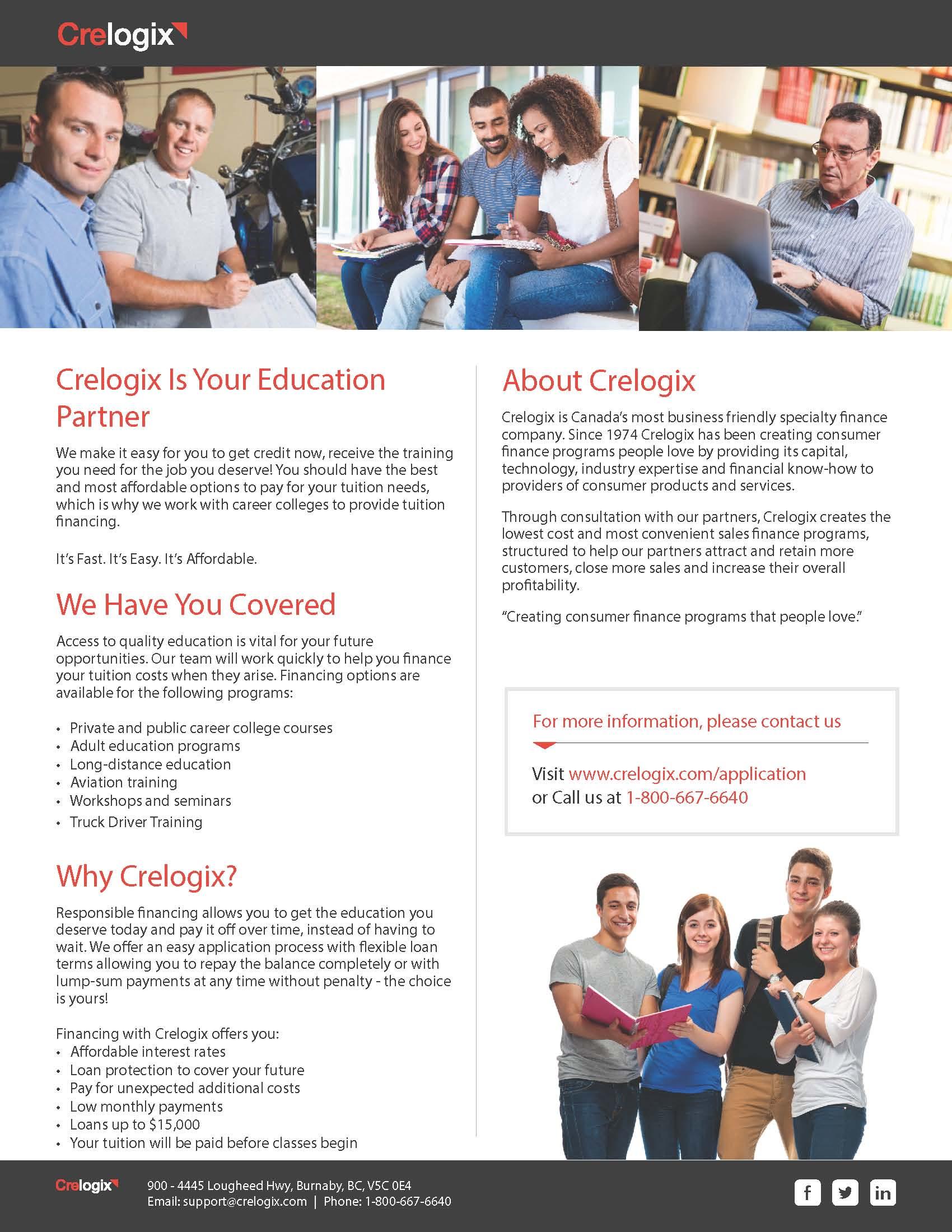 Crelogix Financing, 5th Wheel Training Institute