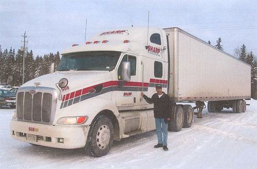 Dan Bush, transport truck driver training