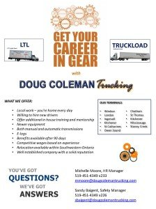 Doug Coleman Trucking, Endorsement