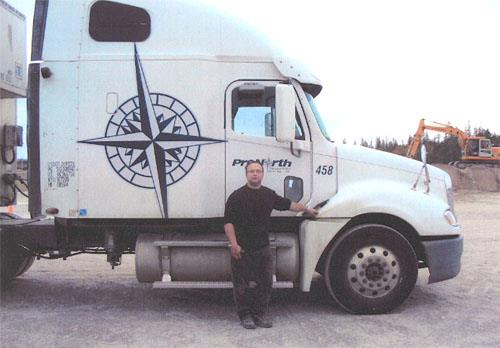 Jonathan Rousseau, transport truck driver training