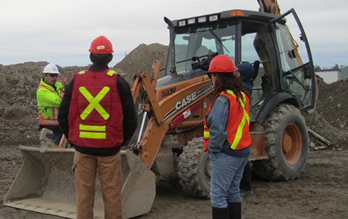 job site workers, heavy equipment training