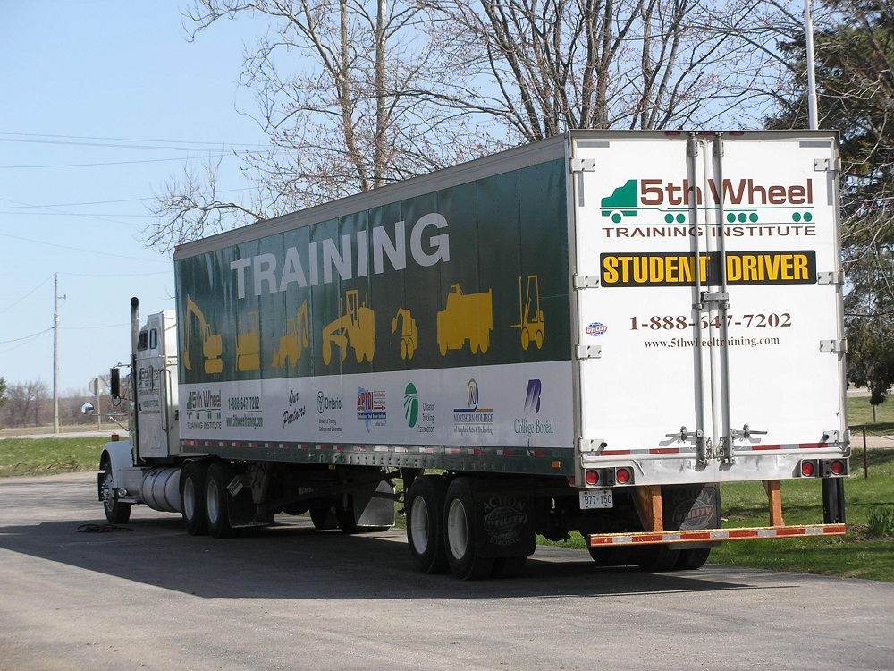 Truck driver training vehicle in ontario